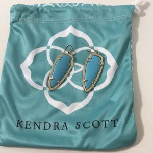 Turquoise Kendra Scott arrow shaped earrings